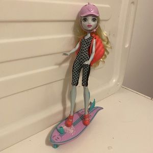 Rare retired Monster High Lagoona Blue Doll & accessories